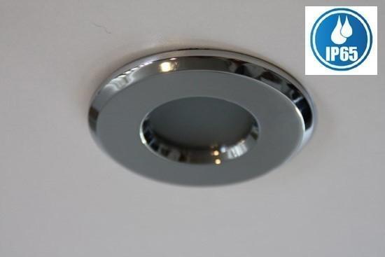 Inbouwspot IP65 rond Badkamer chroom | Lampenhuis